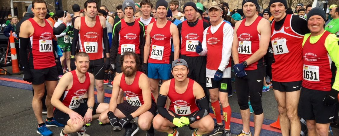 Mohegan Striders Men's Racing Team at New Haven Shamrock & Roll 5k